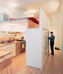 puzzle loft kitchen view hallway